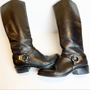 Via Spiga black riding equestrian leather boots